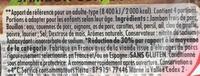 Le Bon Paris Plaisir & Légèreté (Moins de 2% de MG) - Ingrediënten - fr