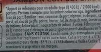 Le Bon Paris fumé - Ingrédients