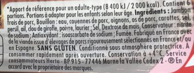 Le Bon Paris Fumé (6+2 gratuites) - Ingredients
