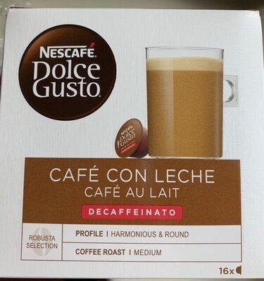 Café con leche descafeinado