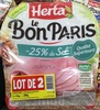 Le Bon Paris -25% de sel (lot de 2) - Product