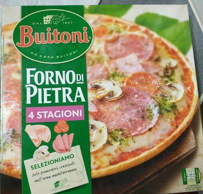 Stagioni pizza de queso salami champiñones y jamón cocido