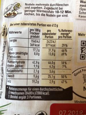 Hack-Lauch Pfanne mit Nudeln - Voedingswaarden - de