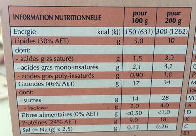 Clinutren dessert gourmand - Informations nutritionnelles - fr