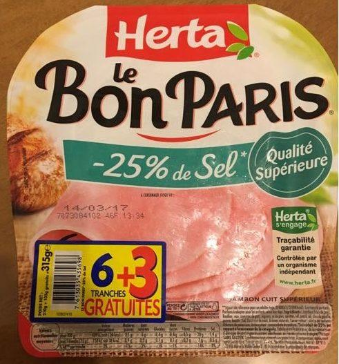Le Bon Paris -25% de sel (6+3 gratuites) - Produit