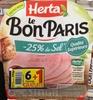 Le Bon Paris -25% de sel (6+1 gratuite) - Product