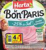 Le Bon Paris -25% de sel (4+1 gratuite) - Produit