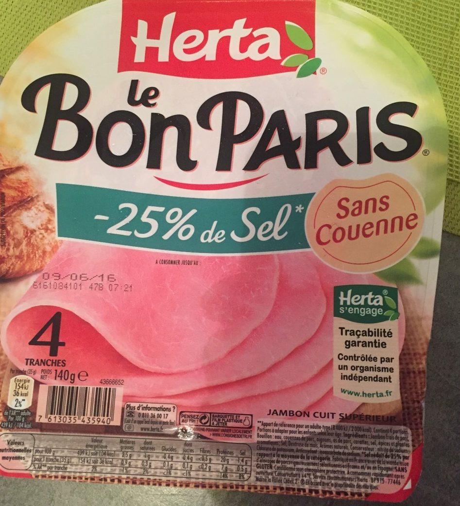 Le Bon Paris -25% sel - Product - fr