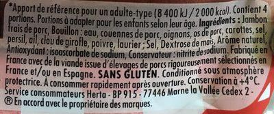 Le Bon Paris au Torchon - Ingrédients - fr