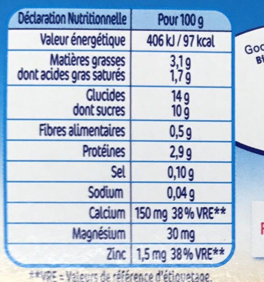 P'tit Flan Vanille - Valori nutrizionali - fr