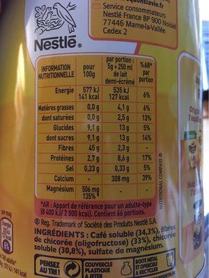 Ricoré - Informations nutritionnelles - fr