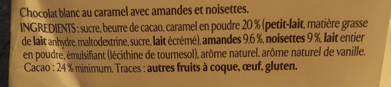 Les recettes de l'atelier - chocolat blond caramel - noisettes - Ingredienti - fr