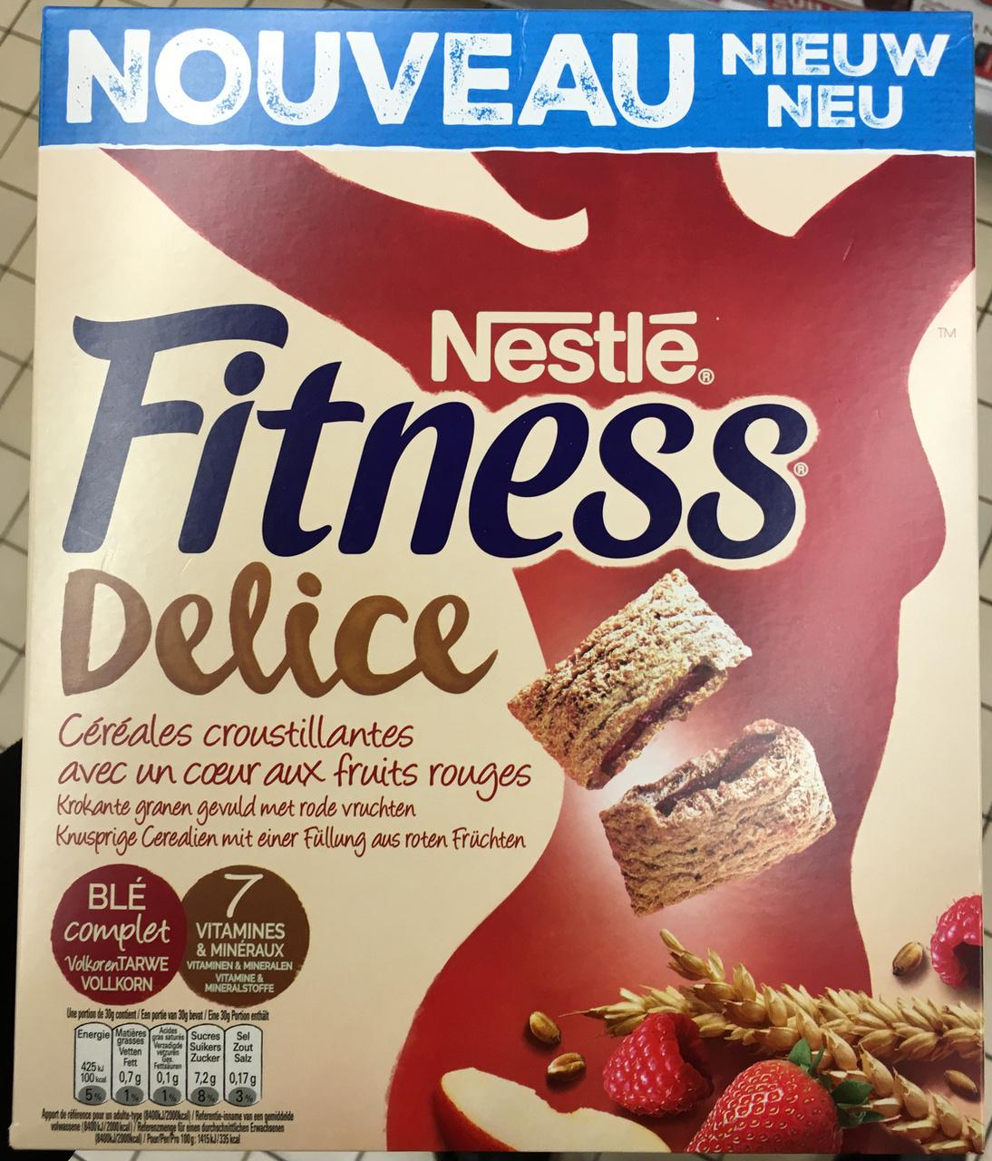 Fitness Delice Céréales croustillantes avec un coeur aux fruits rouges - Produit