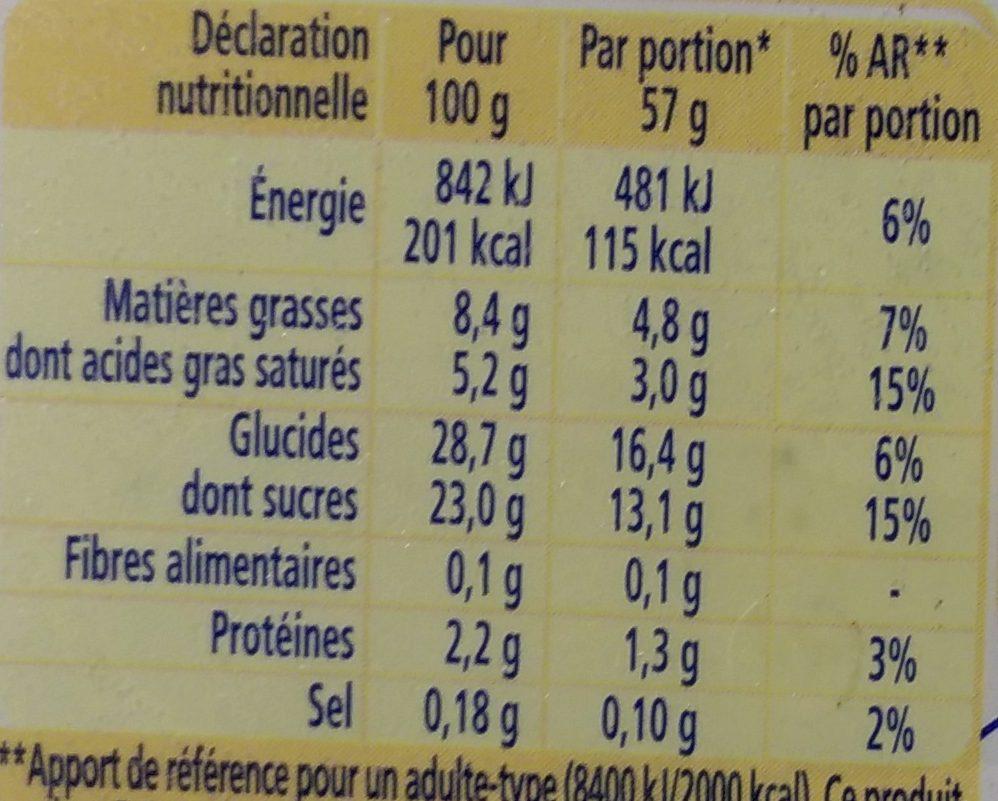 La Laitière Vanille Gousses Infusées de Madagascar - Informations nutritionnelles - fr