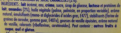 La Laitière Façon Crème Brûlée Éclats de Nougatine - Ingredients - fr