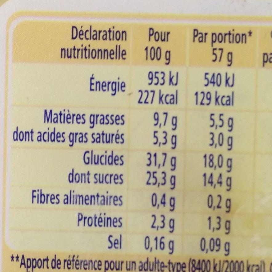 La Laitière Façon Crème Brûlée Éclats de Nougatine - Nutrition facts - fr