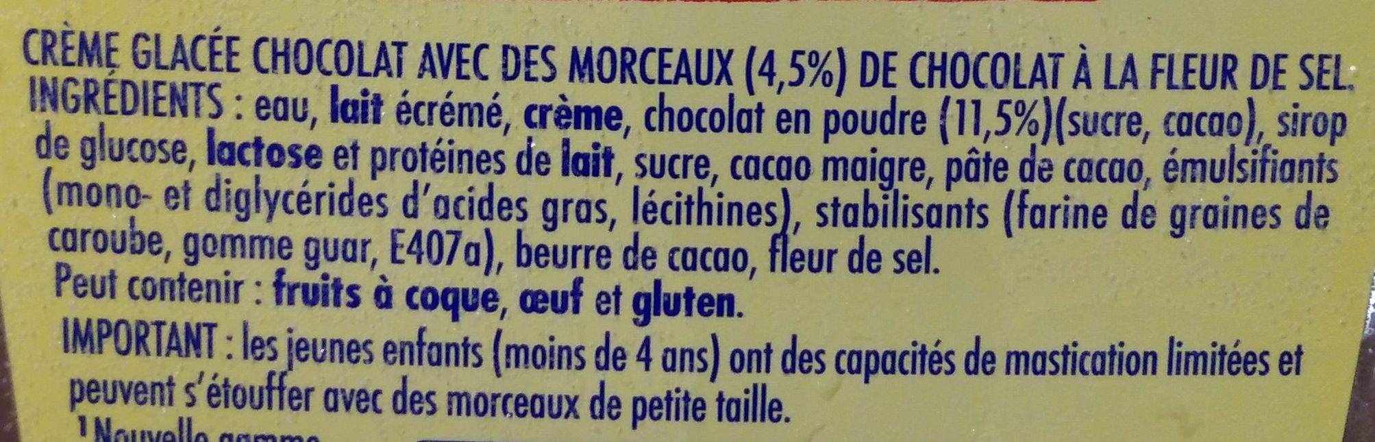 La Laitière Chocolat et Fleur de Sel - Ingrédients