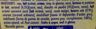 Chocolat Caramel Sauce Caramel Beurre Salé - Ingrédients