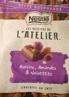 Chocolat au lait raisins amandes noisettes - Prodotto - fr