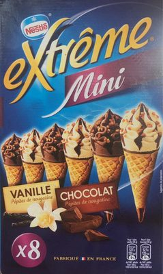Mini cônes vanille nougatine & chocolat nougatine - Product