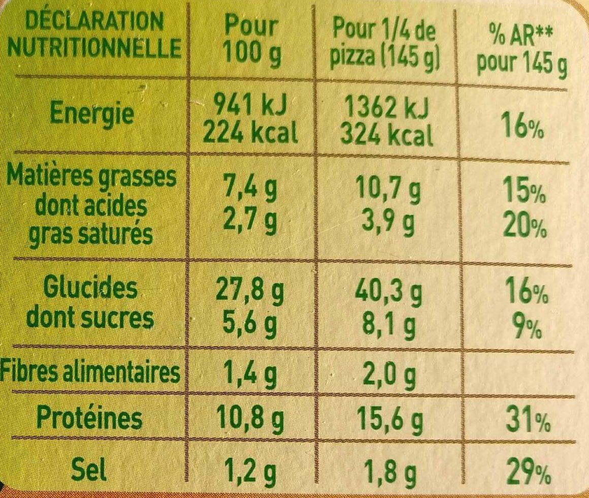 Fraîch'Up Poulet aux épices orientales & Sauce blanche - Informations nutritionnelles