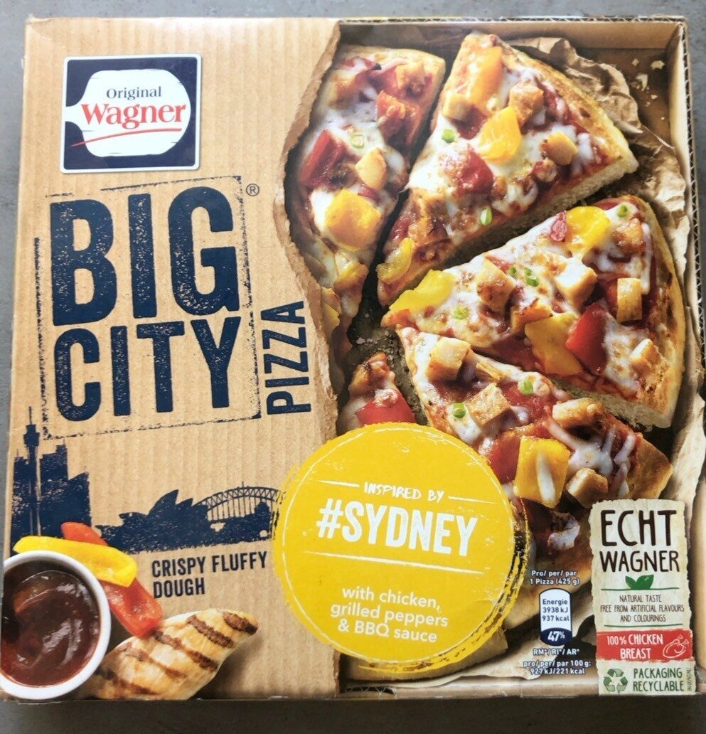 Original Wagner Big Pizza BBQ Chicken - Produit - fr