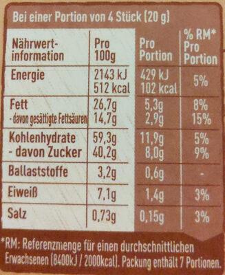 Choco Crossies Original - Voedingswaarden - de
