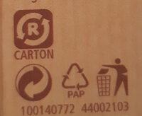 Choco Crossies Original - Recyclinginstructies en / of verpakkingsinformatie - de