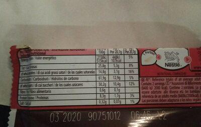 Kit Kat White - Informations nutritionnelles - fr