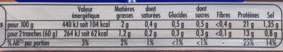 Le Bon Poulet Filet Nature - Nutrition facts