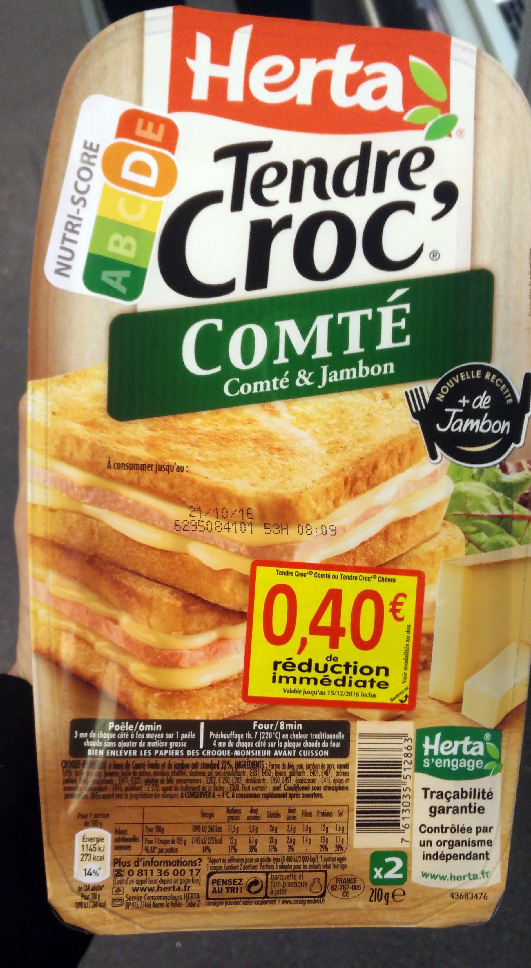 Tendre Croc' Comté - Produit