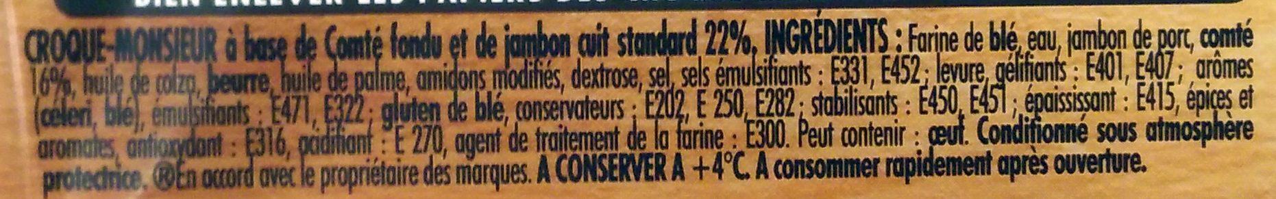 Tendre Croc' Comté - Ingrédients