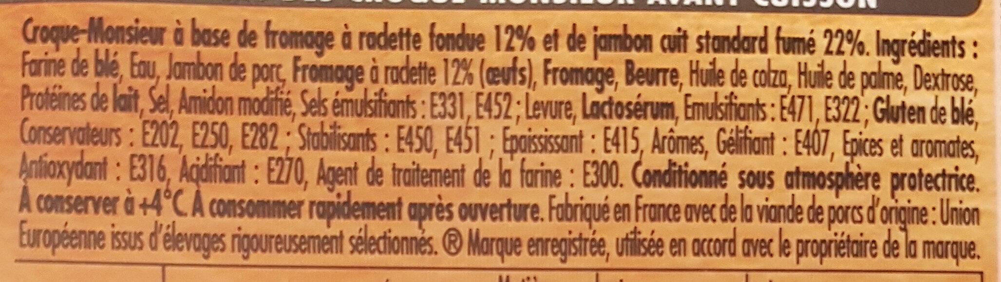 Tendre Croc' Montagnard - Ingrédients