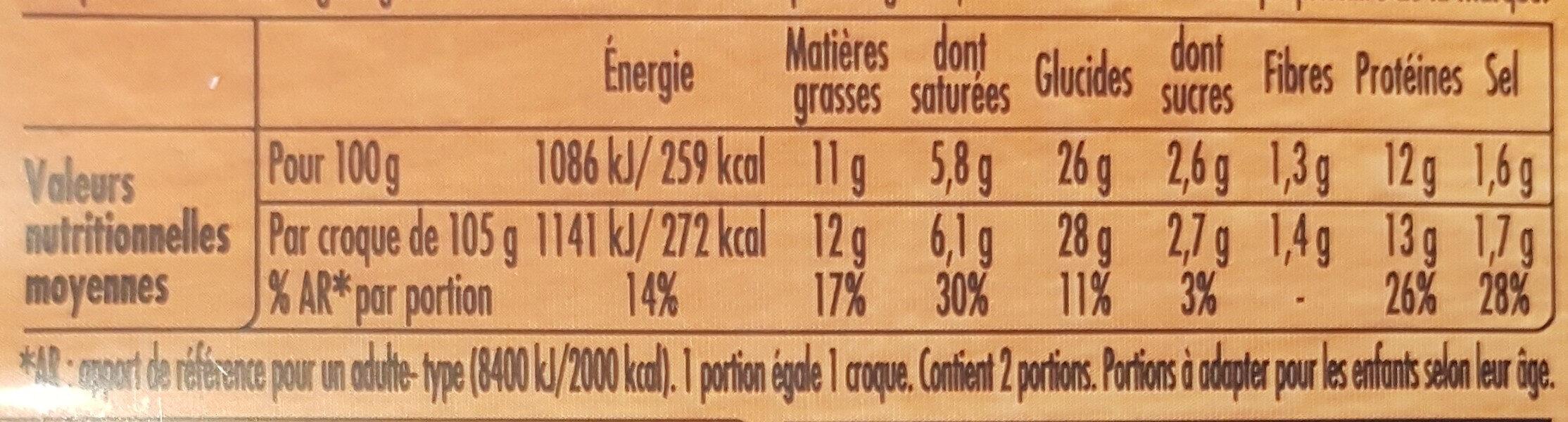 Tendre Croc' Montagnard - Informations nutritionnelles