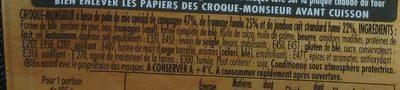 Tendre Croc' Campagne - Ingrédients
