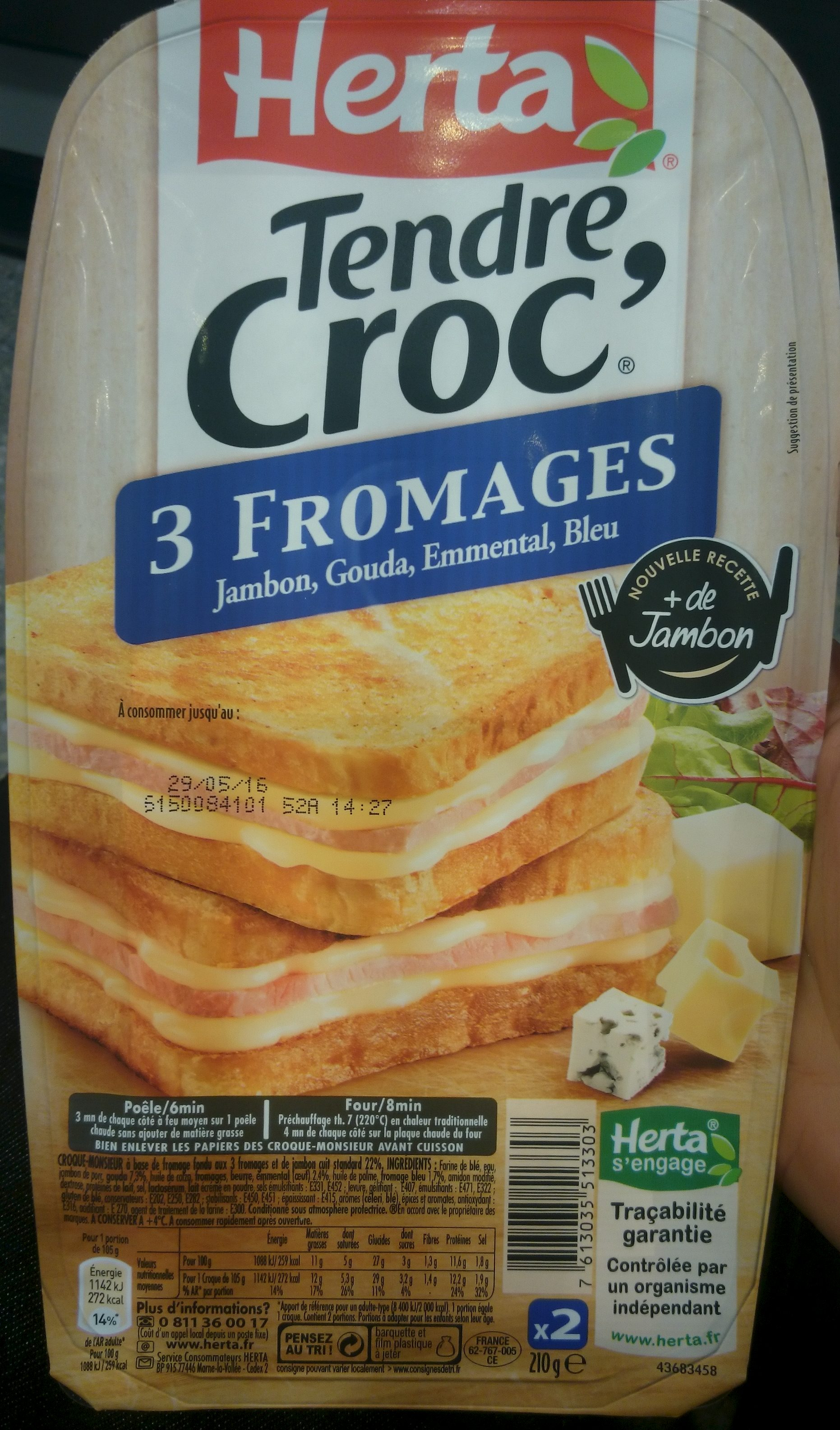 Tendre Croc' 3 Fromages - Product