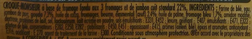 Tendre Croc' 3 Fromages - Ingredients