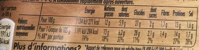 Tendre Croc' Bacon - Nutrition facts - fr