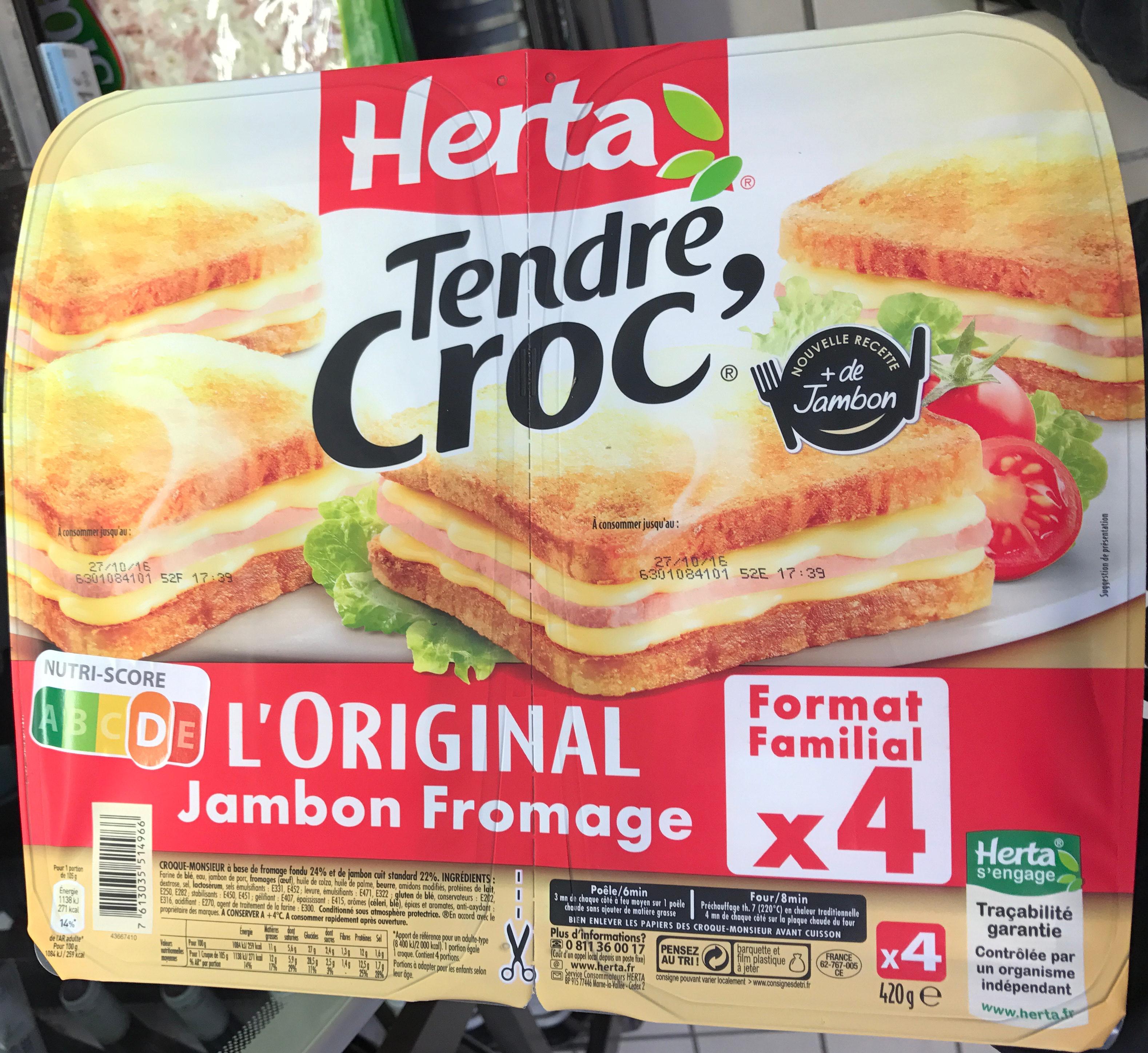 Tendre Croc' L'Original Jambon Fromage Format Familial - Produit