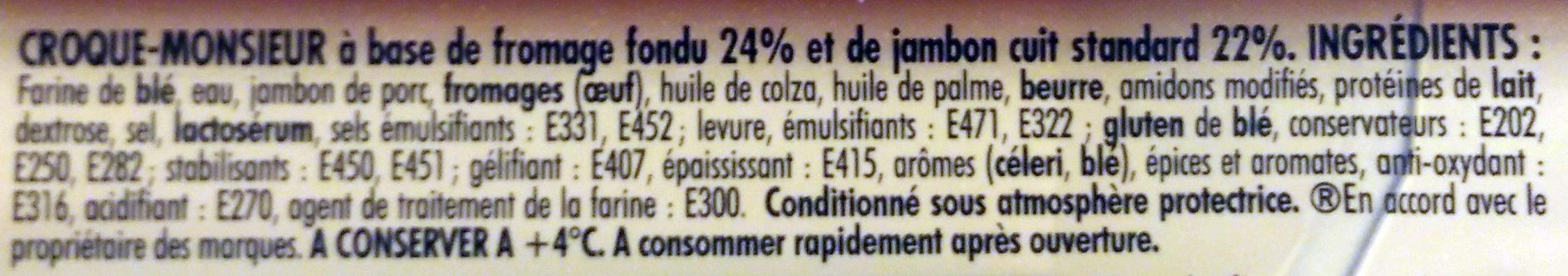 Tendre Croc' L'Original Jambon Fromage Format Familial - Ingrédients - fr