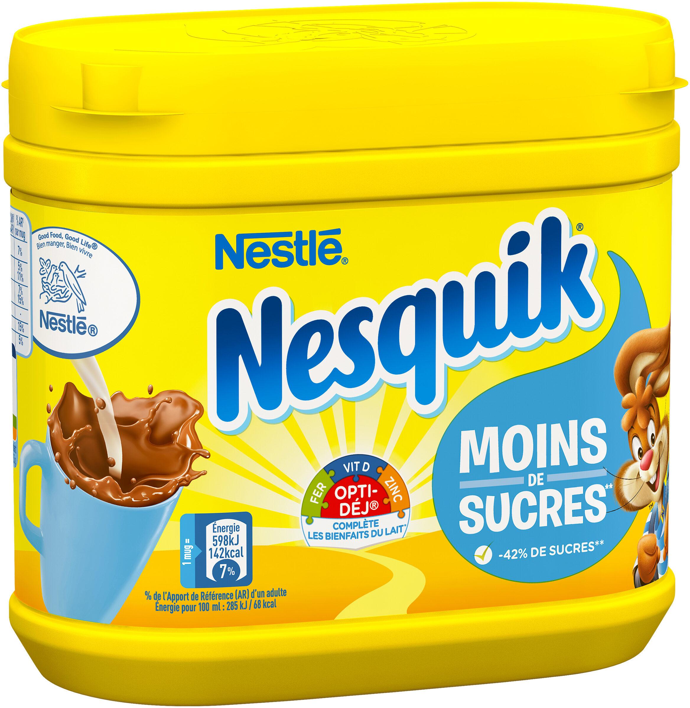NESQUIK Moins de Sucres Poudre Cacaotée - Produit - fr