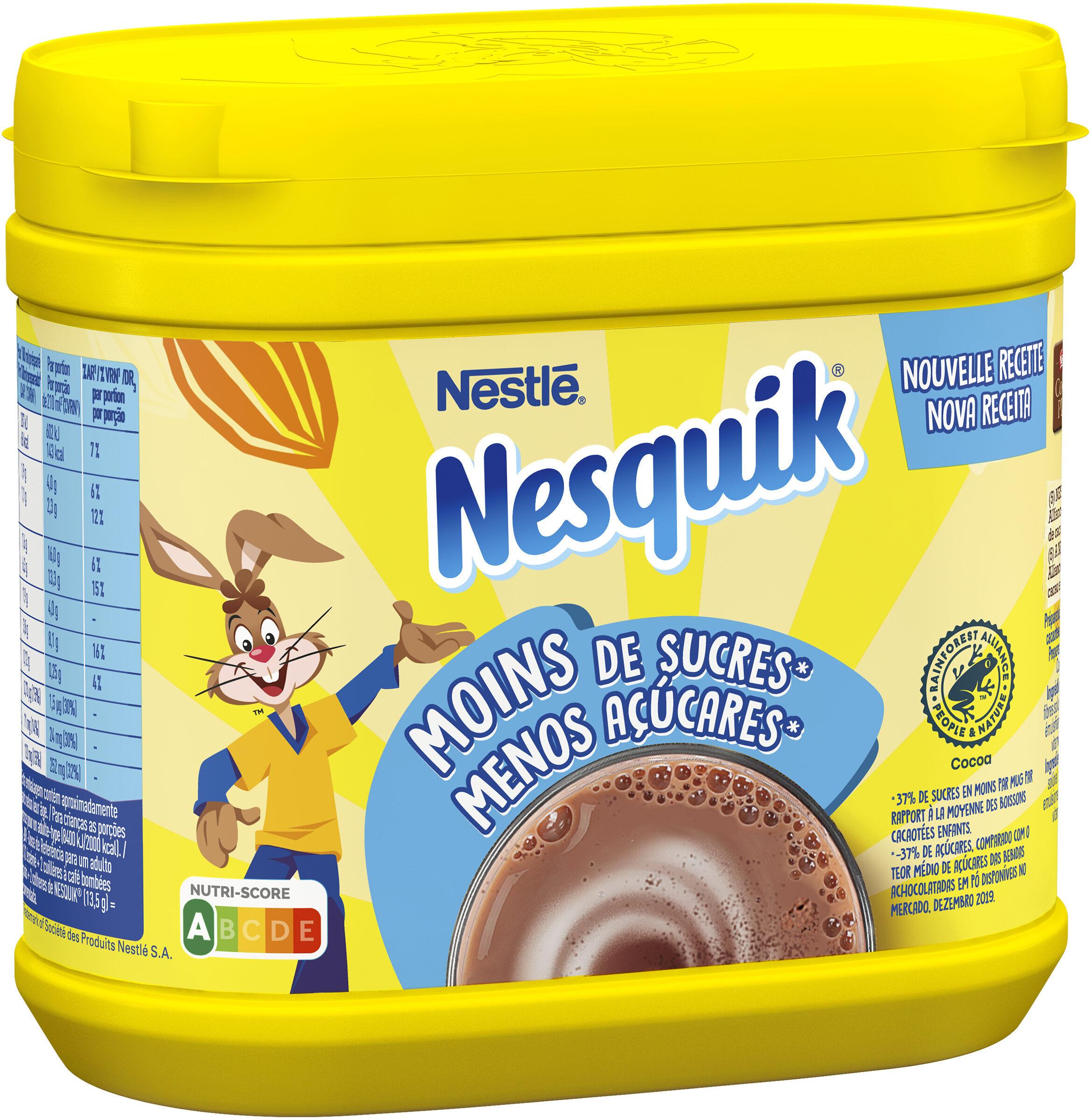 NESQUIK Moins de Sucres Poudre Cacaotée - Product - fr
