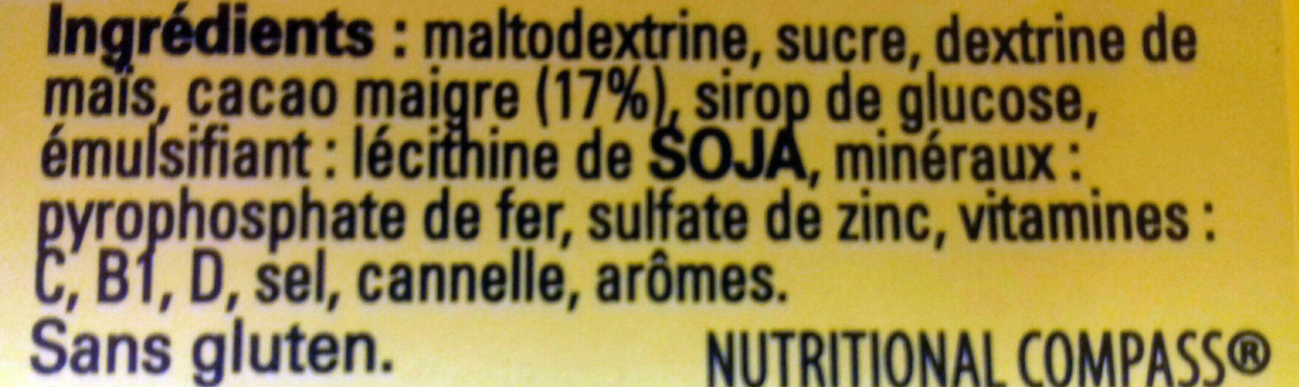 Nesquik moins de sucre - Ingredients
