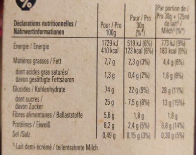 LION Céréales caramel chocolat - Nährwertangaben - de