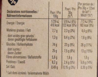 LION Céréales caramel chocolat - Informations nutritionnelles - fr