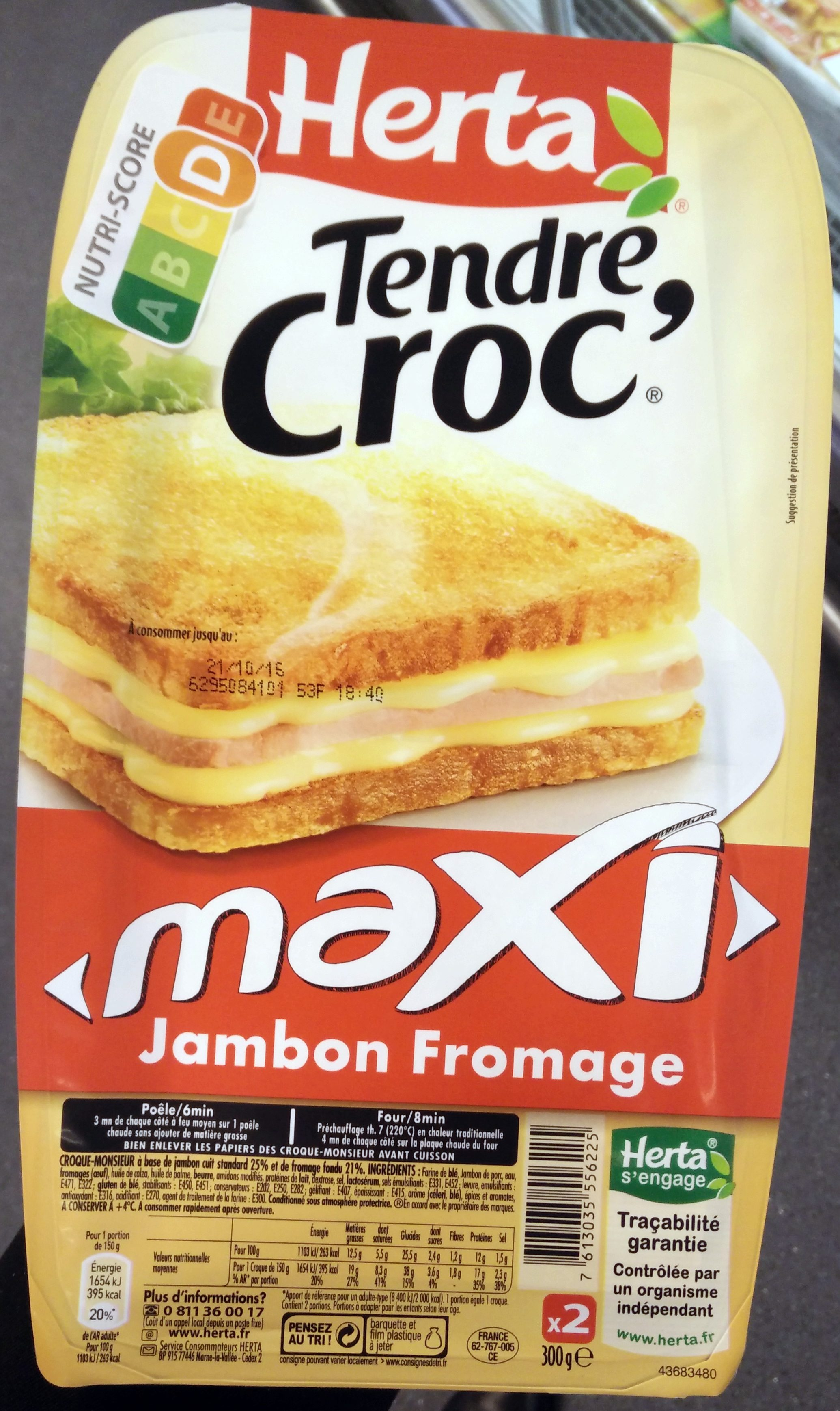 Tendre croc' - maxi jambon fromage - Product