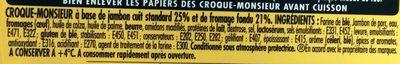 Tendre croc' - maxi jambon fromage - Ingrédients