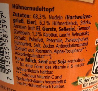 Hühner Nudeltopf - Ingrediënten - de