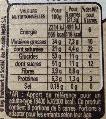 NESTLE DESSERT Chocolat au Lait - 15