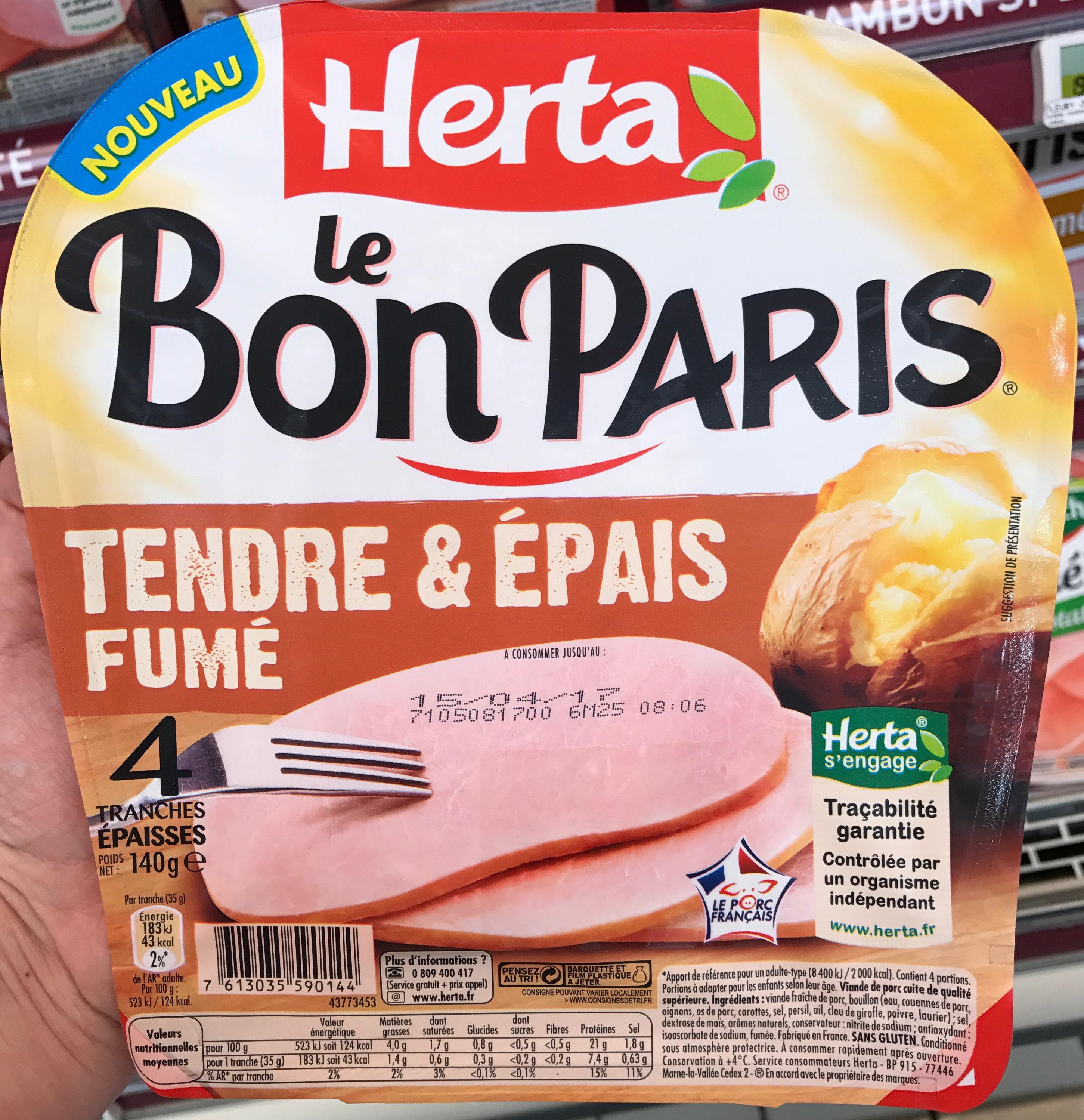 Le Bon Paris Tendre & Epais fumé - Produit - fr